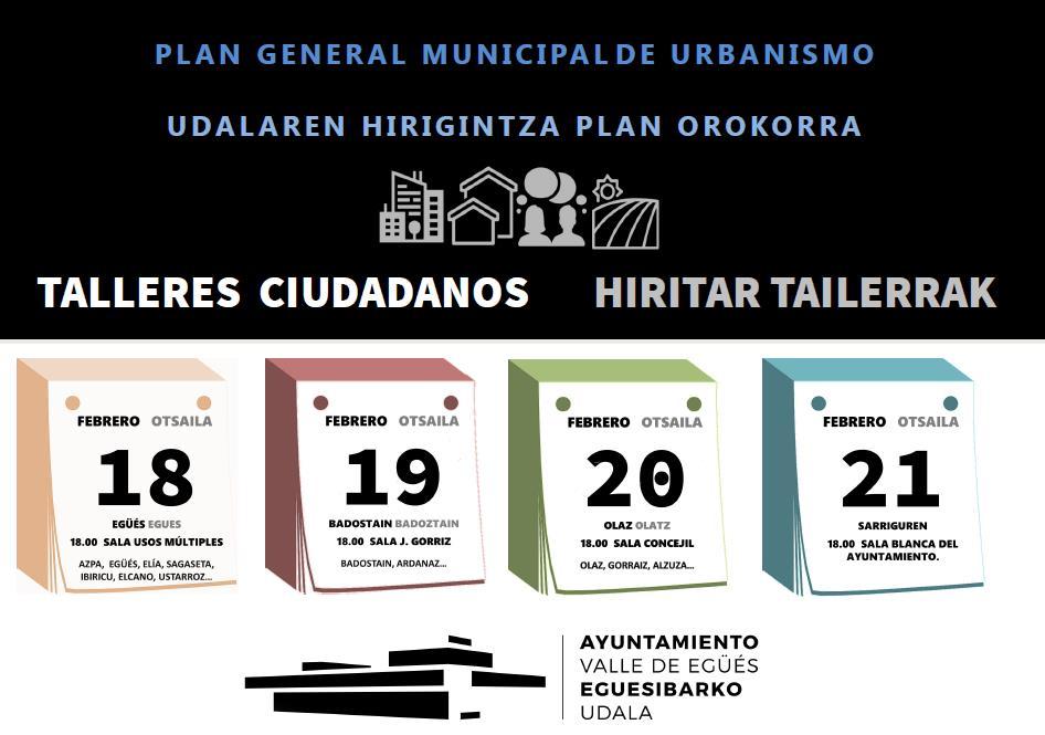 TALLERES CIUDADANOS – HIRITAR TAILERRAK